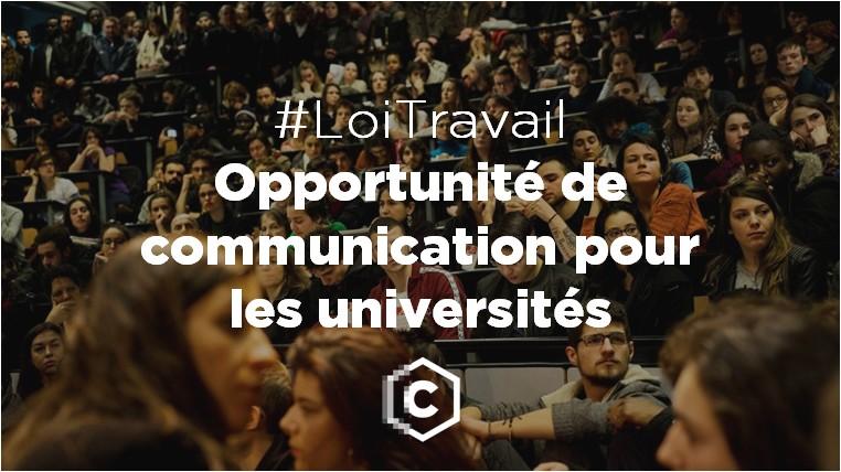 #LoiTravail opportunité de communication