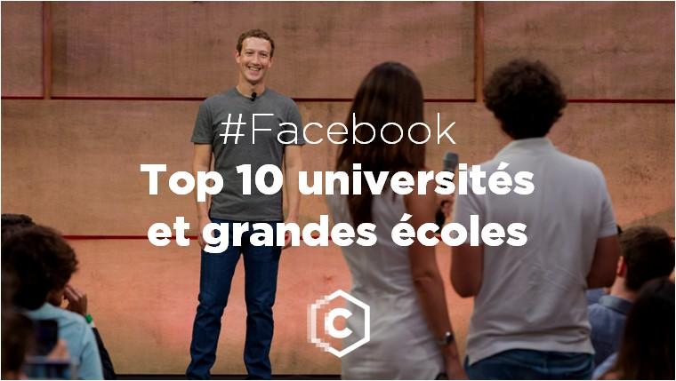 Facebook - Top 10 des écoles et universités françaises - septembre 2016