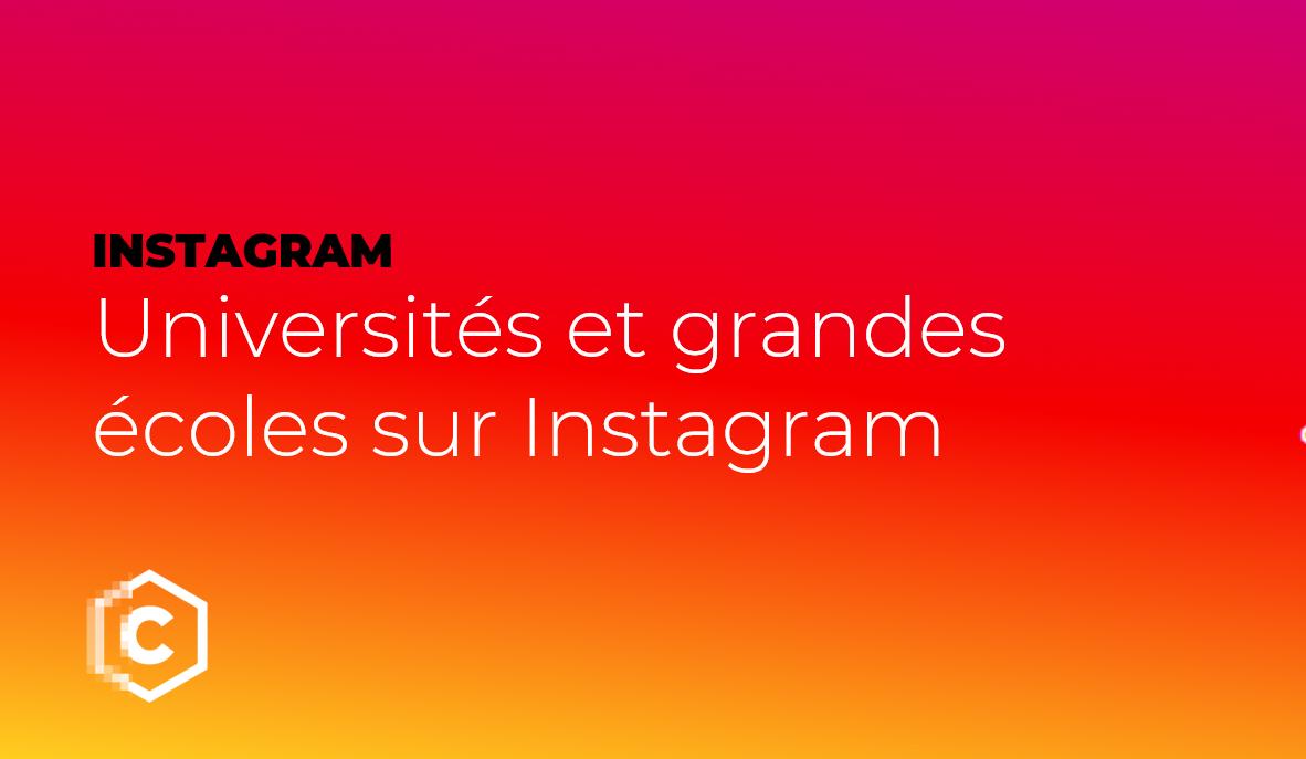 Universités et grandes écoles sur Instagram